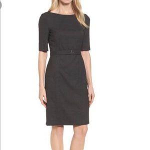 Hugo Boss Dewisa Check Wool Sheath Dress